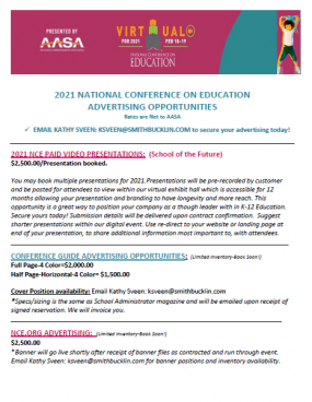 AASA NCE 2021 Advertising Prospectus Cover
