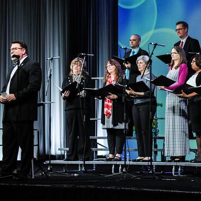 Singing Supes perform